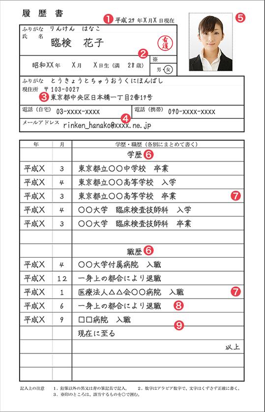 書 履歴 自動車 免許